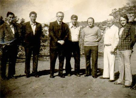 (Da esquerda para à direita : Herculano, Luiz, Prefeito Pezzollo,Veiga, Tarcio, Vigano e Leo Sérgio)