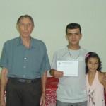 Luiz, Edivaldo e sua filha Elisangela